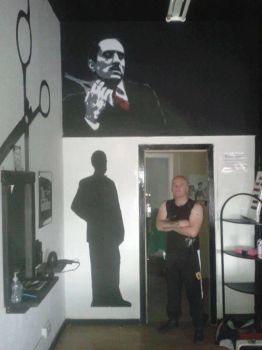 Don Vito Corleone - The Godfather Barbers, Glasgow by Hodgy-Uk
