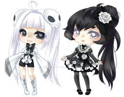 New OCs: Noire and Blanca by RaineSeryn