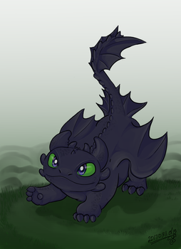 Toothless says Hi by dm17fox