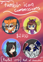 Tumblr Icon Commissions by yamihp7