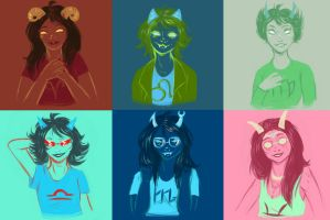 Homestuck: Beta troll guuurls (pallete) by mansly