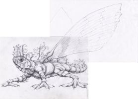 Fairy lizard sketch by CID228