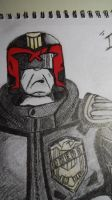 Judge Dredd Sketch (Close-up) by ChrisM38