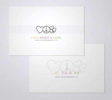love peace and hope cards by galka