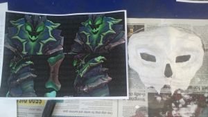 Thresh Cosplay 1: Plastered Mask by bamfudge