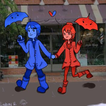 The Blue Umbrella by torokismu