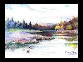 colored pencil landscape by dragofyre7