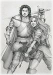 Commission: Calgar And Wilhelmina by SerenaVerdeArt