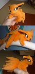 Mini magnet plush: Kyuubi 2 by goiku