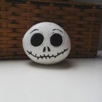 Jack Skellington Painted Stone by Chiruyto
