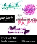 6 PNG TEXTS by itslikeperfect