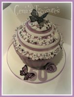 Purple and Silver Giant Cupcake by gertygetsgangster