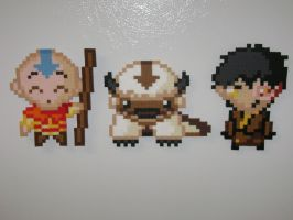 Aang, Appa and Zuko by RoninEclipse2G
