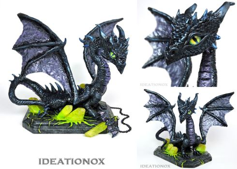 Maleficent Inspired Dragon Sculpture by Ideationox