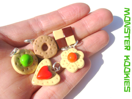 Tiny Yoshi's Cookie Charms by monsterkookies