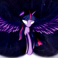 Twilight sparkle as an alicorn! by Greeny-Nyte
