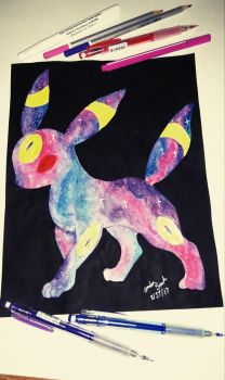 galaxy umbreon  by AmeliaSnels1408