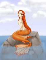 solitary mermaid by LaTopazora
