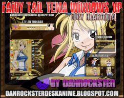 Lucy Heartfilia Theme Windows XP by Danrockster