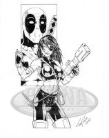 Domino Deadpool by tonyperna