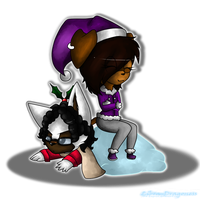 Christmas Chibis - Mitchie and Jazmin by Libra-Dragoness