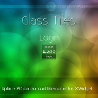 Glass Tiles Login for XWidget by NoRushDesigns