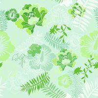 Floral Botanical 4 Green by chamelledesigns