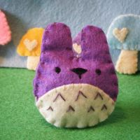 teeny totoro purple by hellohappycrafts