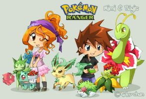 Pkmn Ranger : Mimi and Regis by Goku-chan