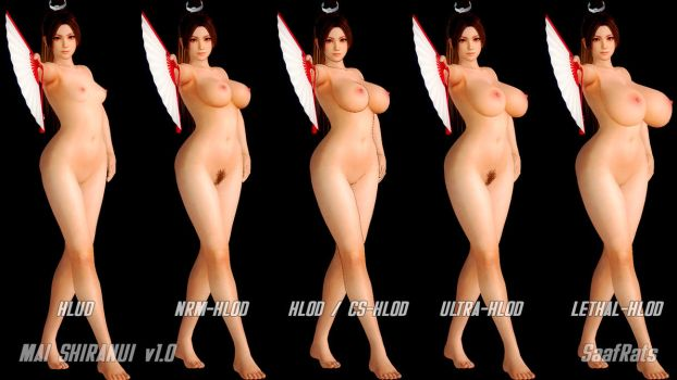 DOWNLOAD: MAI SHIRANUI HLOD complete pack [DOA5LR] by SaafRats