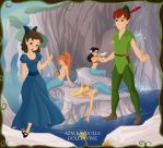 Peter Pan and Wendy Darling. by Katharine-Elizabeth