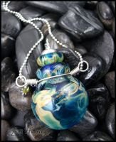 Atlantean - Glass Bottle Pendant by andromeda