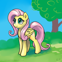 Speedpaint 02 - Fluttershy by KP-ShadowSquirrel