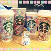 Starbucks Cup Art by CreativeCarrah