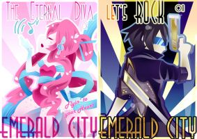 KNIGHTS of EMERALD CITY Promotional Poster 0102 by Shiroi-Raven