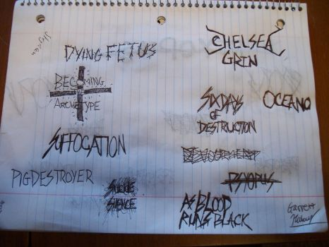 My Favorite Death Metal Bands by TheGarbear98