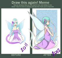 Draw this Again Meme : Fairy by oNarissa