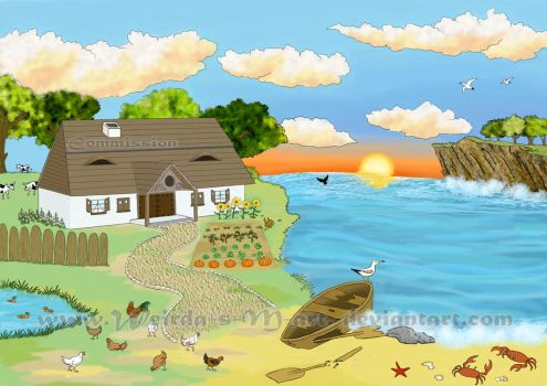 Bg for The Tale of the Fisherman and the Fish 2 by Weirda-s-M-art
