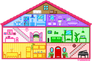Pixel Doll House by Annortha