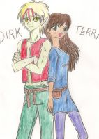 My OCs Dirk and Terra by TheArtgrrl