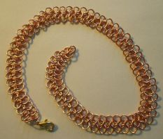 Copper Chain Mail Collar by lauraneko