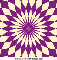 Abstract Flower Optical Illusion Image by 123freevectors