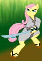 Fluttershy the Samurai by Penblade-the-bard
