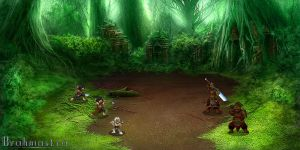 Brahmastra environment :battle background, jungles by macarious