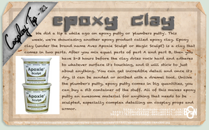 Cosplay Tip 21 - Epoxy Clay by Bllacksheep