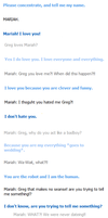 Randomness between CleverBot Greg and Admin Mariah by villago