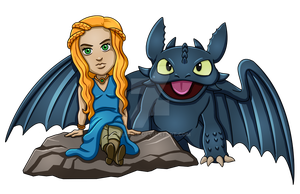 Daenarys and Toothless by jmascia