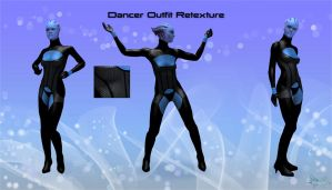 Mass Effect 3 - Dancer Outfit Retexture in Black by KurauAmami