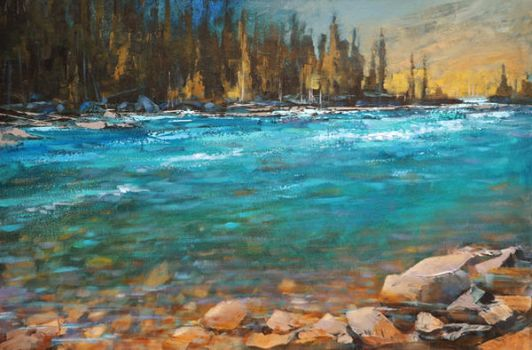 Along Elbow River by artistwilder