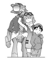 FLCL Characters_tone by bluepen731